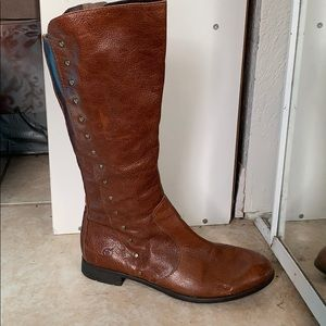 Brown midcalf boots